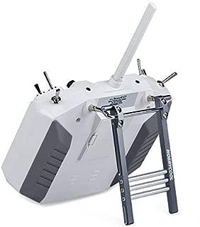 HOBBYMATE Radio Transmitter Kickstand Aluminum - for RC Transmitter Remote Controller Frsky Futaba JR Flysky Spektrum (Titanium)