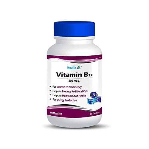 Healthvit Vitamin B12 500mcg - 60 Tablets