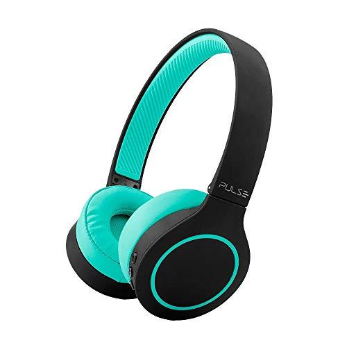 Headphone Bluetooth 5.0 Pulse Head Beats Preto e Verde Bateria 20 Horas - PH340, Único