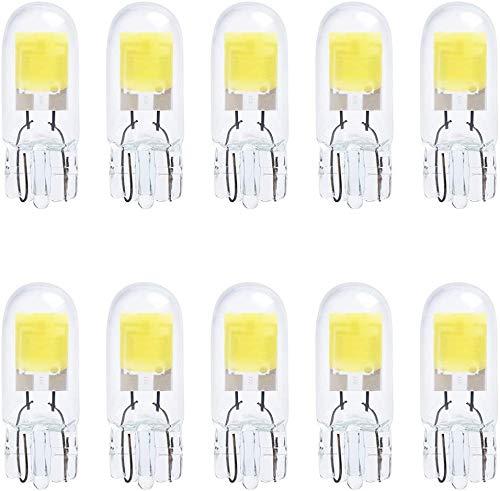 10-Stück T10 194 2825 501 W/ 5. W Sehr Hell Weiß Birnen Halogenlampe für Innenraumbeleuchtung Birne