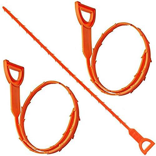 DealEnvy Abflussschlange, Haarabflussreiniger, 49 cm, 3 Stück