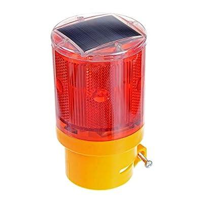 Penck Solar Powered Emergency Strobe Warning Light Wireless Flashing Barricade Road Construction Safety Sign Flash Traffic Light Flicker Beacon Lamp