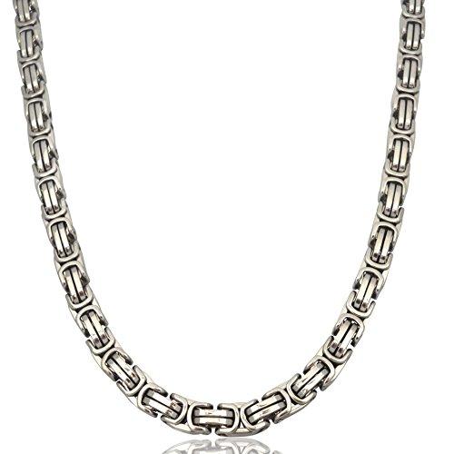 Herren Edelstahl Ketten-Set Halskette Armkette Armband Edelstahlkette 12mm Königskette Silber Silberweiß (Halskette)