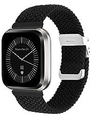 Vozehui Kompatybilny z Fitbit Versa, Versa 2 i Versa Lite, elastyczny oddychający regulowany miękki nylonowy dzianinowy sportowy pasek zastępczy do Fitbit Versa 2 Versa Lite, dla kobiet mężczyzn