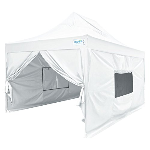 Quictent Privacy 10x15 EZ Pop Up Canopy Tent Instant Outdoor Folding Party Tent with Sidewalls, Mesh Windows Roller Bag Waterproof -5 Colors (White)