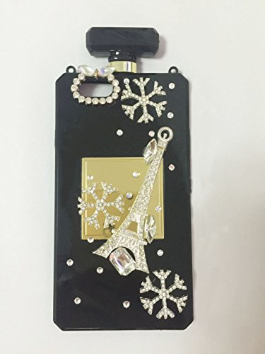 Sasa (TM) iPhone 6Plus / 6S Plus Funda, 3D Tower and Snow Hecho a Mano Brillante Cristal Elegante Cadena Perfume Botella Estilo TPU Funda para iPhone 6Plus 6S Plus (5,5 Pulgadas)