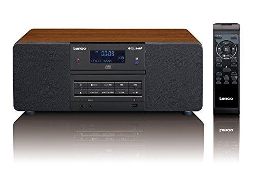 Lenco DAB+ Digitalradio mit CD-Player DAR-050, PLL FM Radio mit RDS und LCD Display, Ausgangsleistung 2 x 5 Watt RMS, USB, MP3, 3,5mm Kopfhörerbuchse, AUX-Eingang) inkl. Fernbedienung