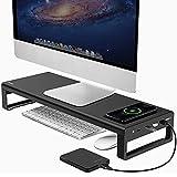 VAYDEER Soporte Monitor USB 3.0 Soporte Monitor Aluminio Soporte Monitor de...