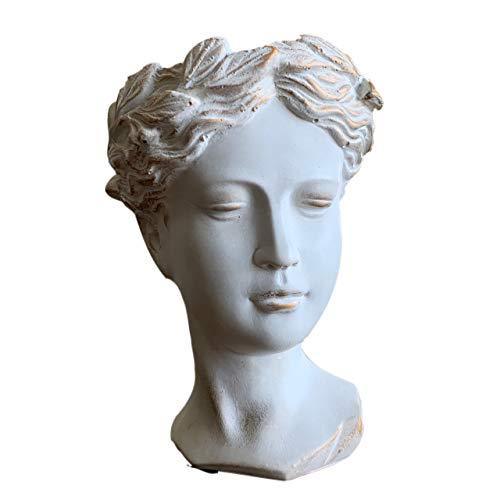 Greek Goddess Venus Female Head Statue Planter