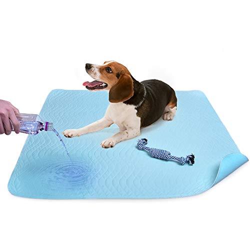 Almohadillas de pee lavables para perros, alfombrilla de entrenamiento para cachorros super absorbente con paquete de 2 almohadillas de perro para masticar de algodón secado rápido, lavables a máquina ⭐