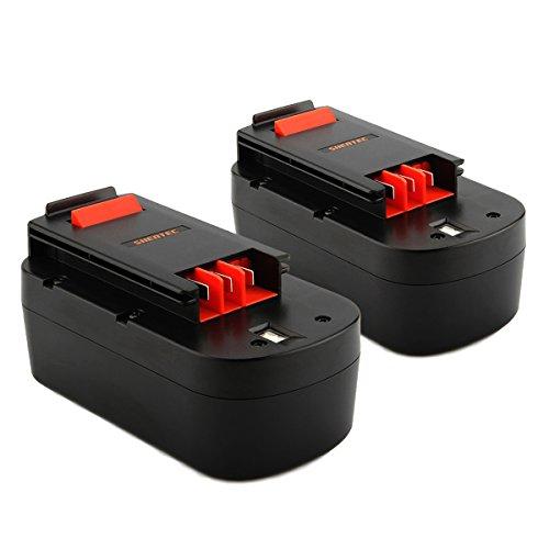 2X Shentec 18V 3500mAh Ni-MH Baterias para Black & Decker 244760-00 A1718 A18NH HPB18 HPB18-OPE A18 FS180BX FS18BX FS18FL FSB18 244760-00