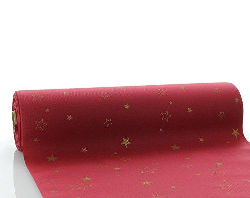 Sovie HORECA Tischläufer Liam in Bordeaux | aus Linclass® Airlaid | Weihnachtsrolle Advent | 40 cm x 24 m | 1 Stück