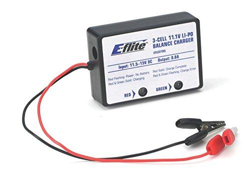E-flite 3-Cell LiPo Balancing Charger, 0.8A, EFLC3105