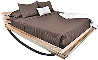 Home Source 100% Rayon Derived from Bamboo Bedding King Coverlet, Sable