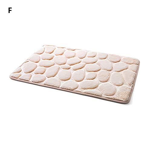 Kangma Area Rugs Memory Foam Pebble Bath Mat 15.7''×23.6'' Anti-Skid Carpet Shower Door Water Absorbent Pads Floor Mats