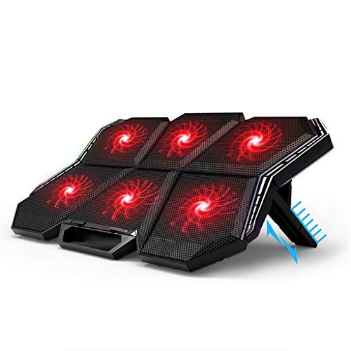 unkonw Almohadilla de refrigeración para portátil, enfriador de portátil con 6 ventiladores LED silenciosos para portátil de 15,6 a 17 pulgadas
