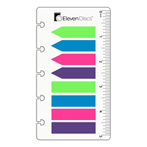 Eleven Discs Discbound Page Flags with Inch Ruler for Circa, Arc, TUL (160 Total)