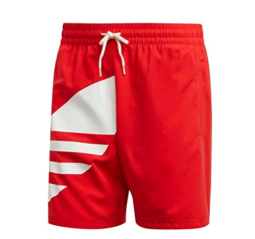Adidas Big Trefoil Swimshort Boardshort Badehose (S, red)
