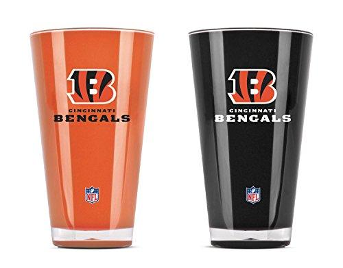 NFL Cincinnati Bengals 20oz Insulated Acrylic Tumbler Set of 2