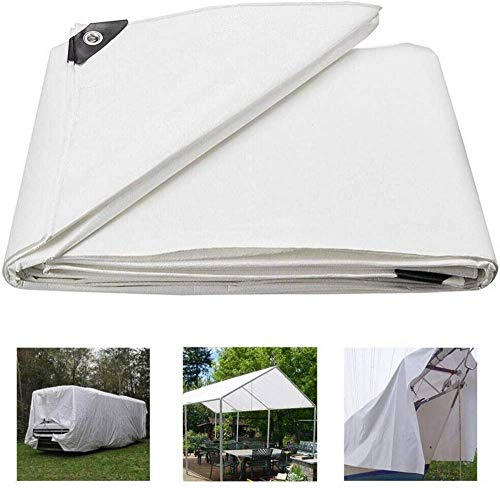 ytrew White Heavy Duty Multipurpose Waterproof Tarp,tarp for Tent Camping,2mx3m, 2mx4m, 2mx5m, 3mx3m, 3mx4m, 3mx5m, 4mx5m, 4mx6m,Waterproof Great for Tarpaulin Canopy Tent, Boat, RV Or Pool Cover