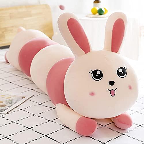 Lulihhhh 55/75/110 cm Lindo Cerdo Largo Almohada de Felpa muñeca de Juguete Ragdoll muñeca Ragdoll Chica durmiendo en la Cama 75 cm Conejo