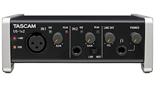 Tascam US-1x2 USB Audio/MIDI Interface with Microphone Preamps and iOS Compatibility