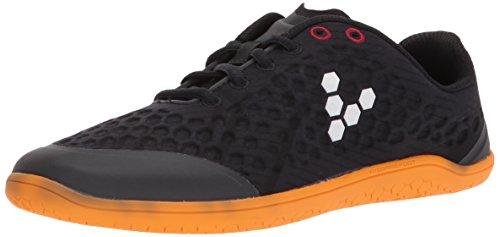 Vivobarefoot Women's Stealth 2 Iconic Road Running Shoe, Black/Orange, 35 D EU (5.5 US)