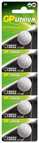 GP Battery Lithium Knopfzelle CR2032 5er Blister
