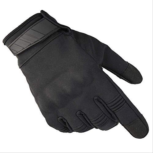 AMZIJ GlovesCamouflage Wasserdichte Handschuhe Herren Vollfinger Tactical Handschuhe Swat Soldiers Paintball Airsoft Shoot Militärhandschuhe M Schwarz