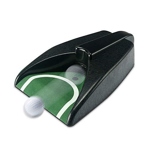 Golf Automatisch Ballputter Tasse, Training Golf Putter Heim Golf Ballputter Loch Innen Ausrüstung für Golfball Putt Rückkehr Maschine Hilfe - Schwarz, Free Size