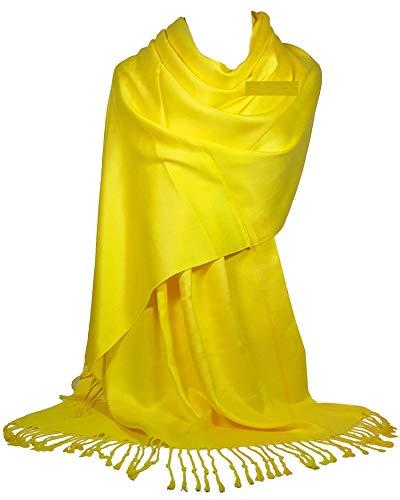 Pashmina amarilla para mujer