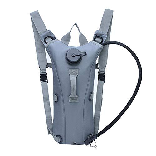 Xfc Mochila de hidratación Paquete de Agua Liviana Venda de Agua de 3L Incluida para Correr, Caminar, Andar en Bicicleta, Festivales,Gray