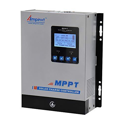 MPPT Solar-Laderegler DC 12 V 24 V 48 V Auto Batterie Regler PV 150 V Eingang MPPT Laderegler für Lithium, versiegelt, Gel und überflutete Batterien, Mppt-60A