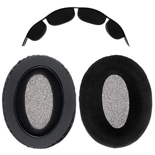 WiMas Replacement Earpads, Velvet + Memory Foam Ear Pad, Ear Cover with Headband Cushion Pad for Sennheiser HD580 HD565 HD545 HD600 HD650 Headphones Headset