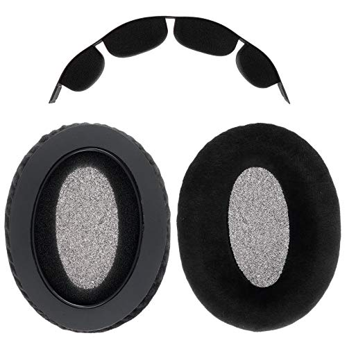 WiMas Replacement Earpads, Velvet + Memory Foam Ear Pad, Ear Cover with Headband Cushion Pad for Sennheiser HD580 HD565 HD545 HD600 HD650 Headphones Headset