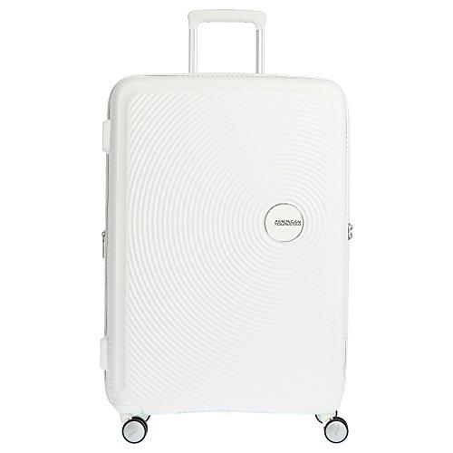 AMERICAN TOURISTER Soundbox - Spinner L Espandibile Bagaglio a Mano, Spinner L (77 cm - 110 L), Pure White