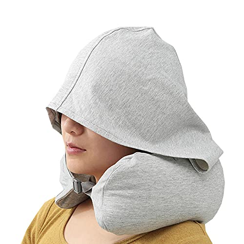 Leileixiao Almohada multifuncional en forma de U para acampar, sombreado, sombrero, soporte para cuello, accesorios de almohada (color: gris)