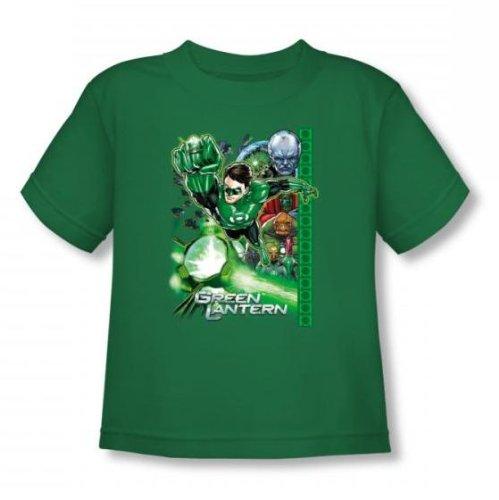 Green Lantern - - Fully Charged Toddler T-shirt En Vert Kelly, 2T, Kelly Green