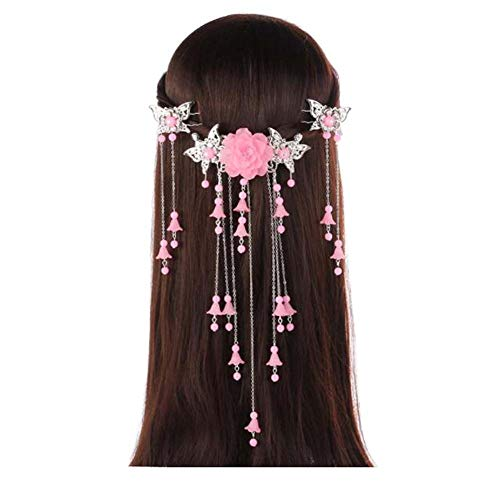 Longue épingle à cheveux à la main, Accessoires anciens, Coiffe Hanfu Cosplay, B01