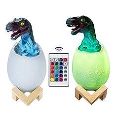 8. Visnfa 3D Dinosaur Egg 16-color Night Light