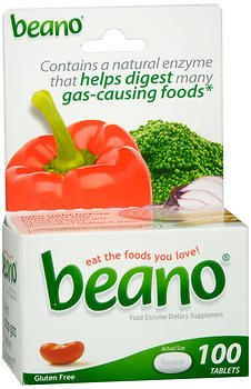 Beano Food Enzyme Dietary Supplement Tablets - 100 ct, Pack of 2