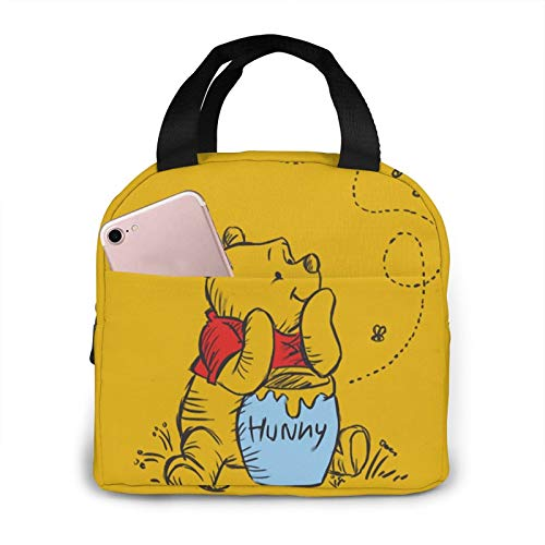 Winnie The Pooh Insulated Lunch Tote Thermal Or Refrigerated Reusable Lunch Tote To Work Picnic Travel For Adults Women Men