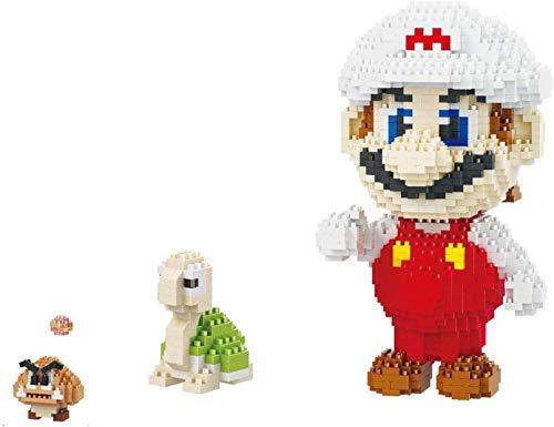 Super Mario Building Block Series Dibujos Animados Anime Figuras Modelo Diamante Partítimo Partítimo Montado Adulto Presión Reducción Juguete, Niños, Blanco