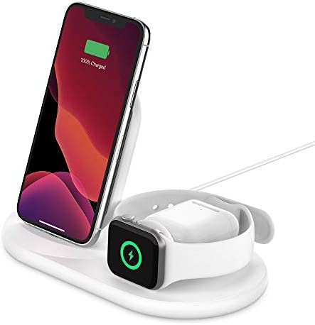 Belkin 3 in 1 Wireless Charger Wireless Charging Station for iPhone Apple Watch AirPods Wireless product image