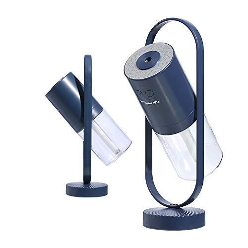 Homeet Mini Humidificador, Humidificador Portátil 200ml Humidificadores Ultrasónicos USB Difusor de Aromas Humidificador Silencioso de Niebla Rotación de de 360° con LED de 7 Colores para Coche Mesa