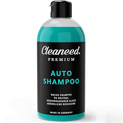 Cleaneed Premium Autoshampoo mit Wachs – Made IN Germany – pH-Neutral, Rückstandsfrei, Schonende Reinigung, Starke Schaumbildung