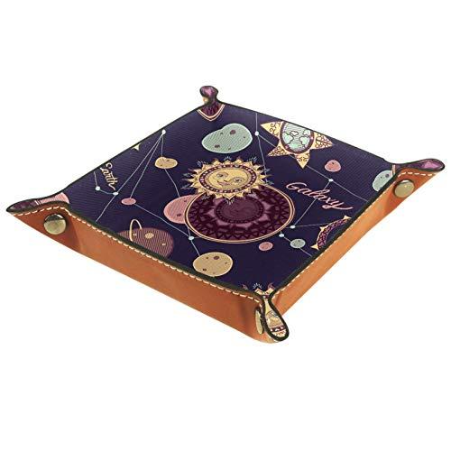 Preisvergleich Produktbild MUMIMI Badezimmer Küche Kommode Tablett Schmuck Geschirr Ring Halter Kosmetik Organizer Illustration Fairy Galaxy,  die Sonne und Planeten