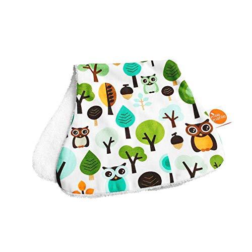 millemarille Spucktuch & Kuscheltuch aus Bambusfrottee | antibakteriell & saugstark, Ökotex 100 | hygienische Alternative zu Mullwindeln & Moltontüchern | für Baby-Erstausstattung | Modern Owls Blue