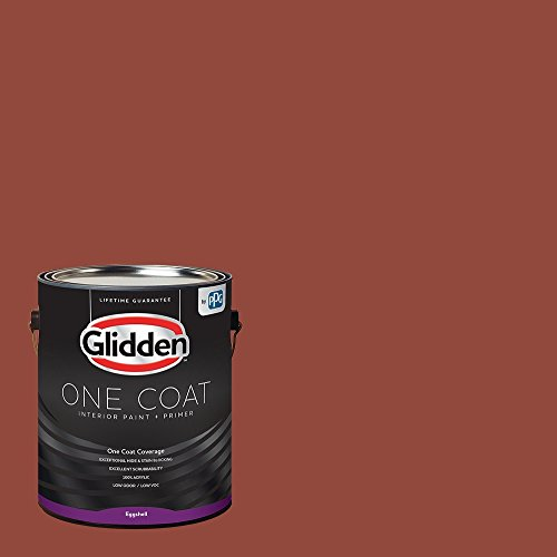 Glidden Interior Paint + Primer: Red/Cedar Chest, One Coat, Eggshell, 1-Gallon