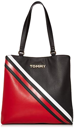 Tommy Hilfiger Shea Tote, Black/Red